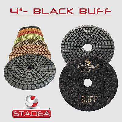 Stadea 4 Diamond Polishing Pad Grit Buff Black For Granite Concrete Wet Grinder