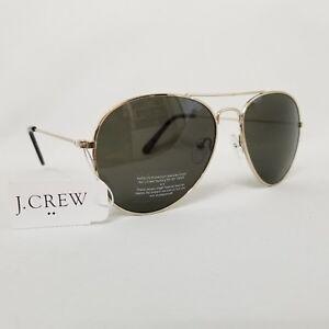 NEW J Crew Golden Metal Bar Frame Womens Aviator Pilot Sunglasses