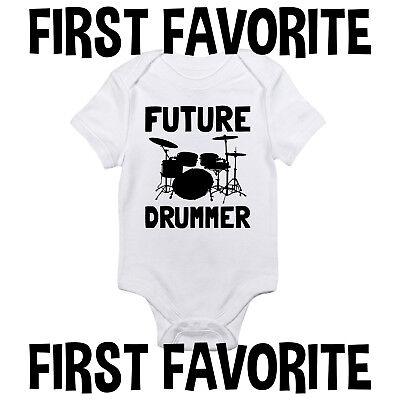 - Future Drummer Baby Onesie Shirt Shower Gift Drums Infant Newborn Clothes Gerber