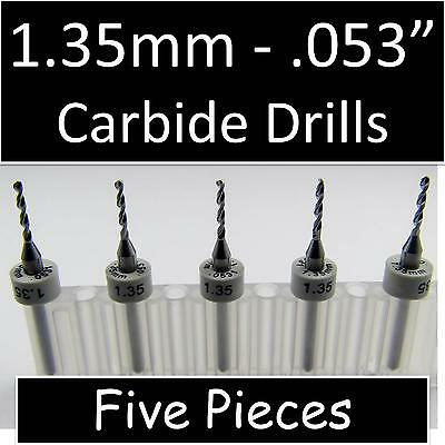 ".0071/"" #94  FIVE Carbide Drill Bits .080/"" LOC cnc pcb model hobby"