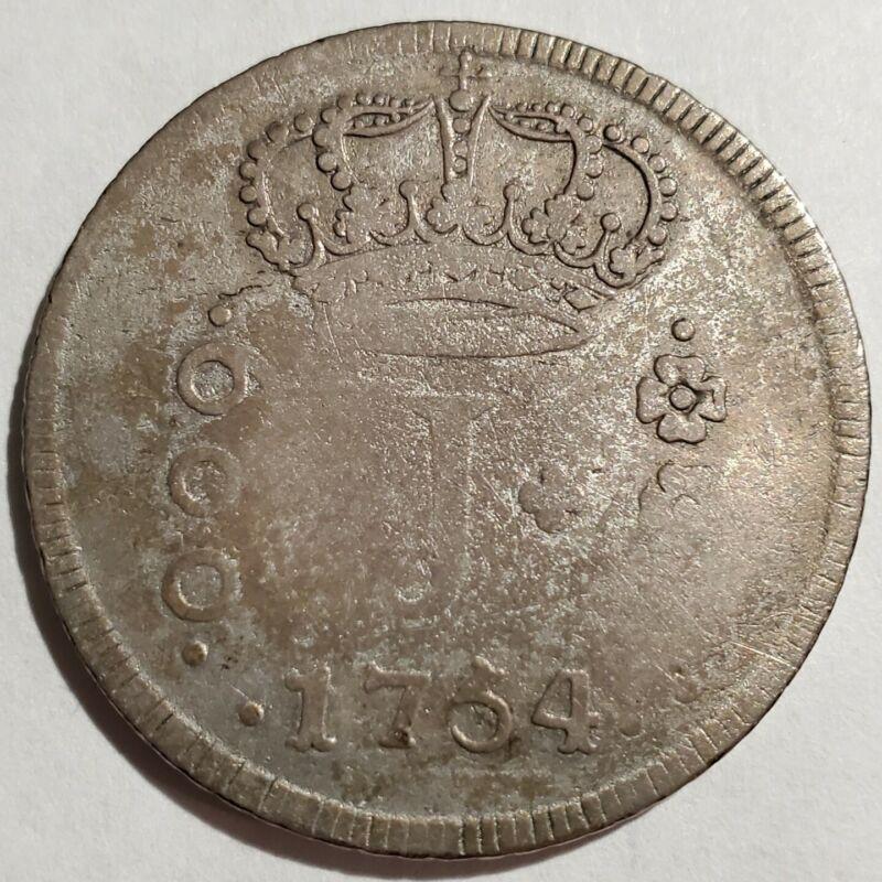 1754 R Brazil 600 Reis