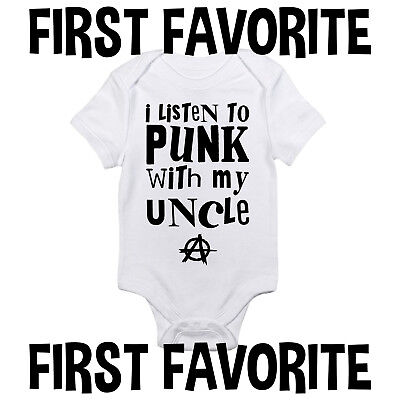 Punk-baby Onesies (Punk Music With Uncle Baby Onesie Shirt Shower Gift Newborn Clothes Gerber)