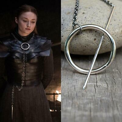 Sansa Stark Circle Necklace Game of Thrones Cosplay Metal Ring Hoop Needle Spike - Necklace Game