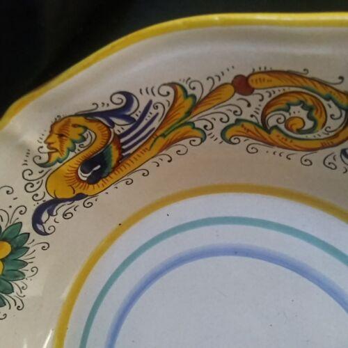 Deruta Raffaellesco Italian Pottery Serving Bowl Pasta Bowl~Colorful Hand paint