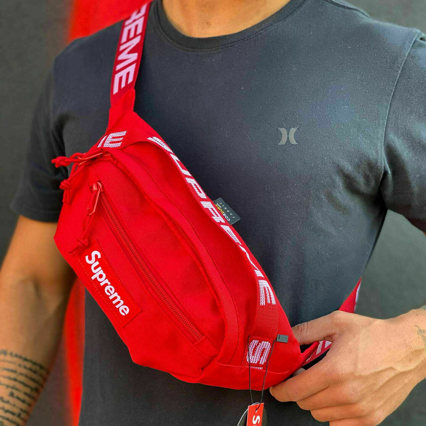 Red Fanny Pack Supreme Crossbody Shoulder SS18 Bag Free Shipping Same Day