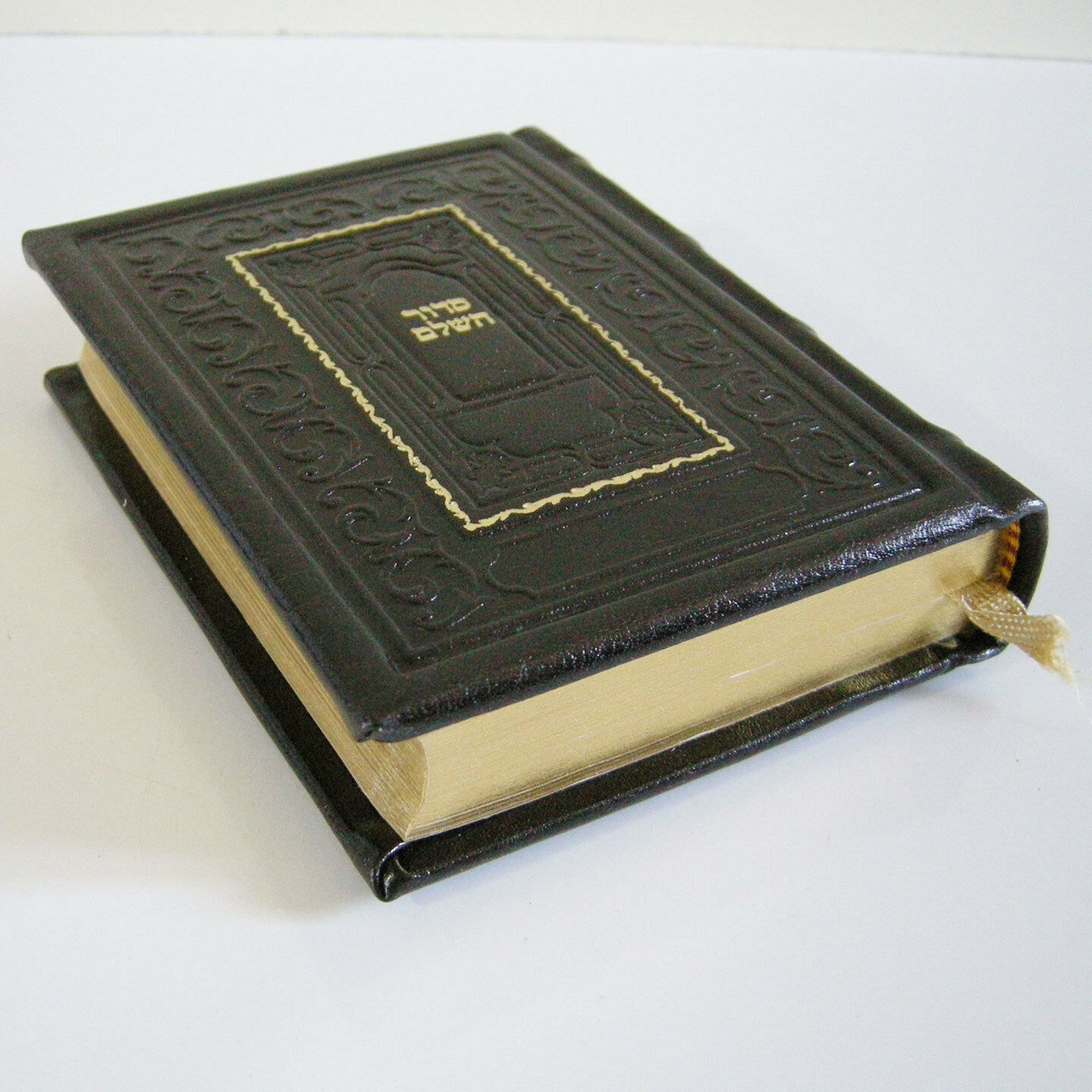 Genuine Leather-Bound Pocket Siddur Gilded Pages Hebrew Handmade Miller Israel (מוכר מישראל) 5