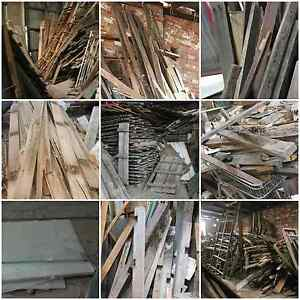 Recycled  Timber, doors, windows, materials ALL MUST GO Brunswick East Moreland Area Preview