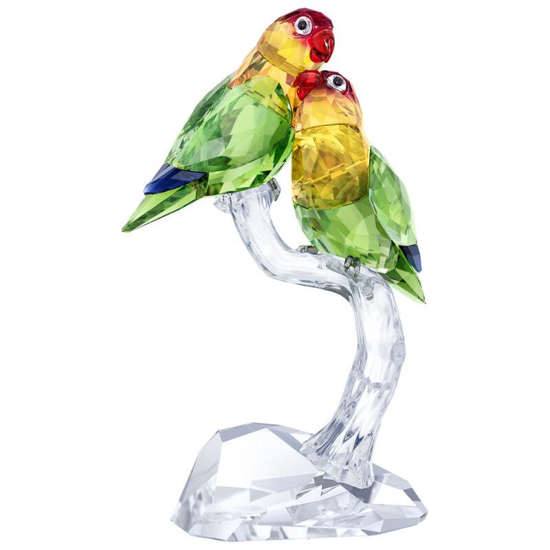 Swarovski Crystal Affection Lovebirds Pair w/ Base Decoration Figurine 5379552