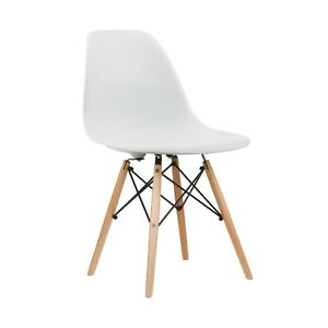 White Eames Style Dining Chairs