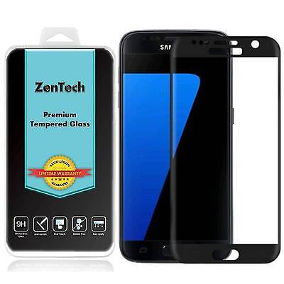 2X Tempered Glass [FULL COVER] Screen Protector For Samsung Galaxy S7 [Black]