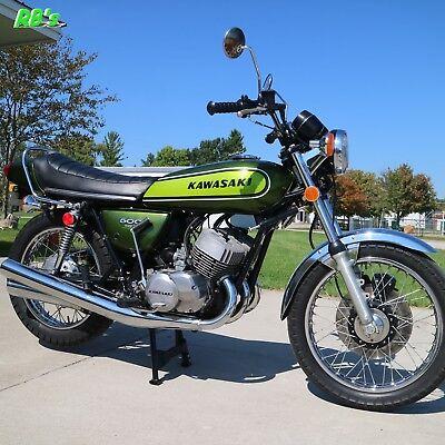Used, Kawasaki H1 500 Triple 1974 H1e GREEN Decal