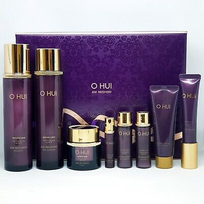 O HUI Age Recovery 3pcs Special Set Softener Emulsion Cream Gift 5pcs K-Beauty