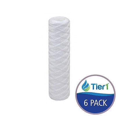 فلتر مياه جديد 10 x 2.5 20 Micron String Wound Polypropylene Water Filter 6 Pack