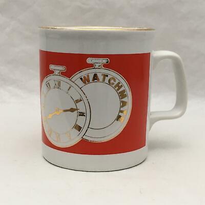 Unusual Vintage Mug w Pocket Watch WATCHMATE Staffordshire England Kiln Craft