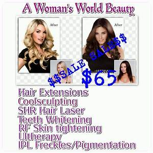 Wholesale hair extensions $65/IPL/coolsculpting/hair removal Canning Vale Canning Area Preview