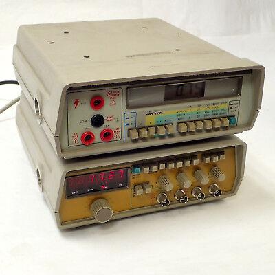 Lot Of 2 Gw Instek Gdm-8034 Multimeter Fg-8016g Function Generator Student