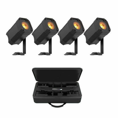 Chauvet DJ EZlink Par Q1BT 4 Par Pack Wireless RGBA LED Wash Par Lights w/ Case