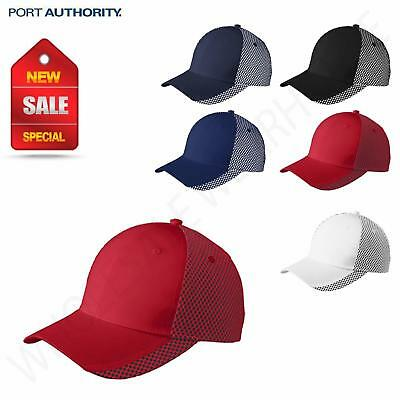 100% Polyester Back Cap - Port Authority Two-Color 100% Polyester Mesh In Mid & Back Cap M-C923