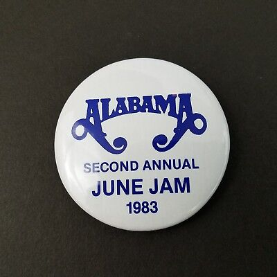 Vtg 1983 2nd Annual Alabama Band June Jam Button Country Music Festival Concert