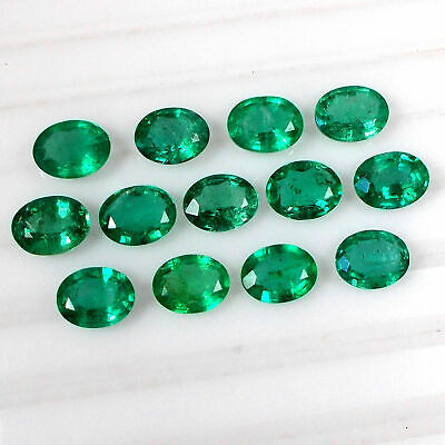 20.76ct Natural Emerald Oval ~ (9x7) Calibrated Gems lot Top Green Luster Gems