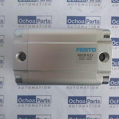 Festo 156547 Compact Cylinder Advu-40-50-p-a Stroke 50 Mm Od Piston 40 Mm 1pc