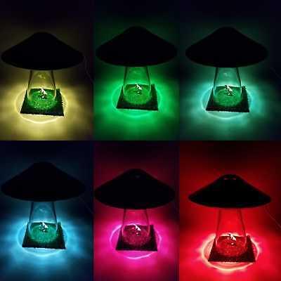 Silver UFO LAMP Alien Cow Abduction Outer Space Saucer Light Farm Country Scene tweedehands  verschepen naar Netherlands