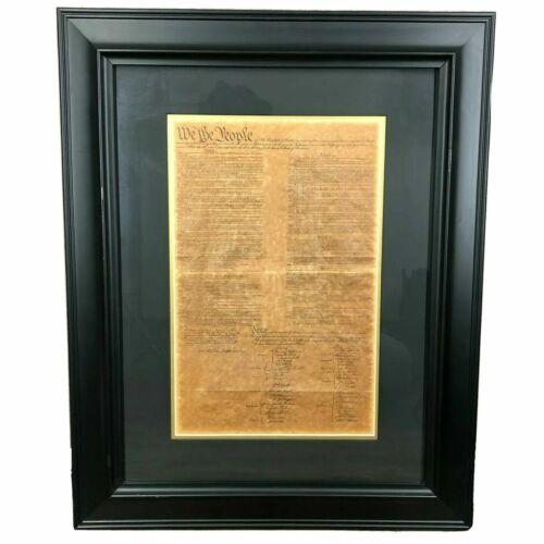 Constitution Large 29X23 Custom Framed Black Declaration Of Independence Big