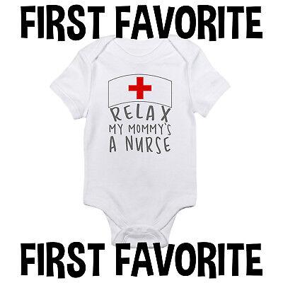 - Mommy Nurse Baby Onesie Shirt Shower Gift Mom Mother Funny Newborn Infant Gerber