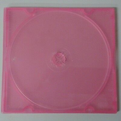CD/DVD POLY CASE 5MM SLIMLINE RED 100 LOT