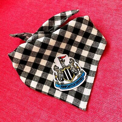 Newcastle United Football Club Dog Bandana Tie Around Neck Bandana Size Medium