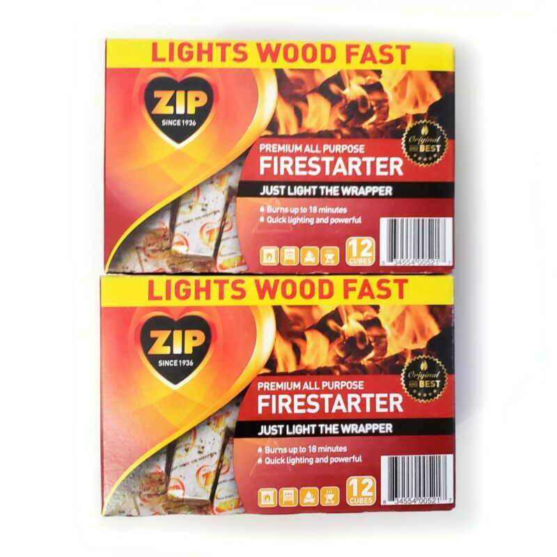 Zip Premium All Purpose Wrapped Fire Starter, 2 Pack, 24 total