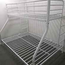 white metal bunk bed   double bottom single top Maryland Newcastle Area Preview