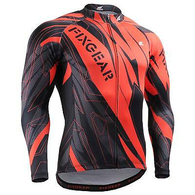 FIXGEAR CS-6801 Men's Long Sleeve Cycling Jersey Bicycle Apparel Roadbike MTB