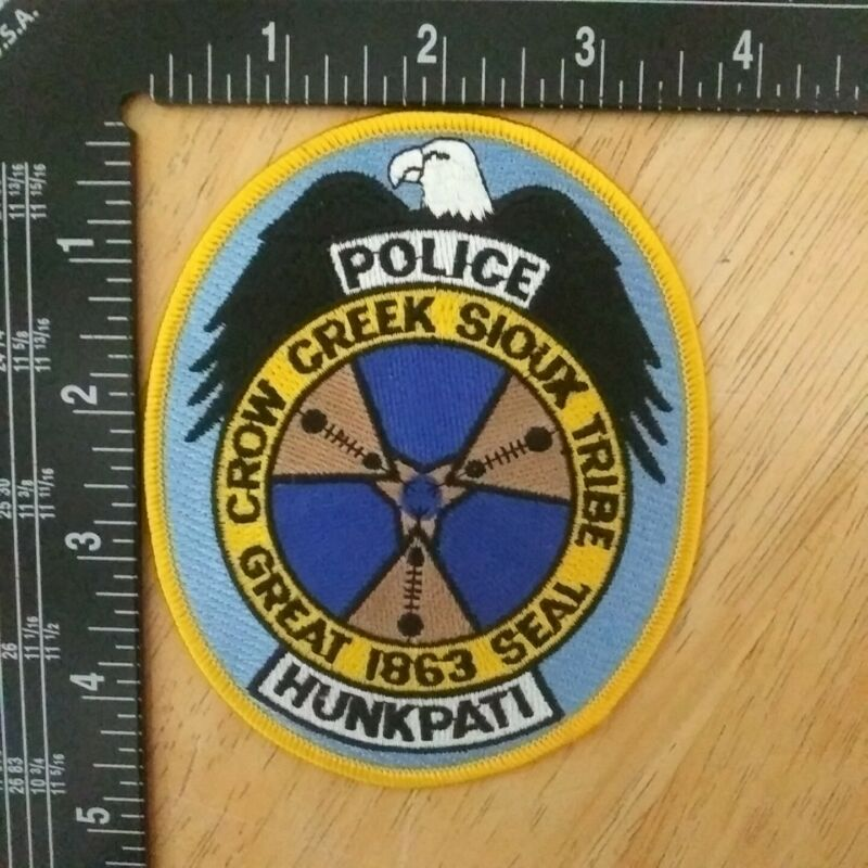 Crown Creek Sioux Tribe Great 1863 Seal Police Patch