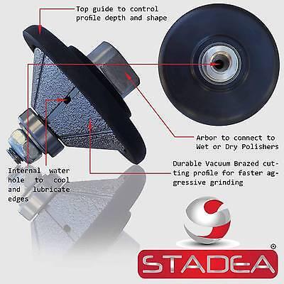 Diamond Profile Wheel Bit Bevel 34 E20 4 Grinder Wet Polisher Granite Concrete