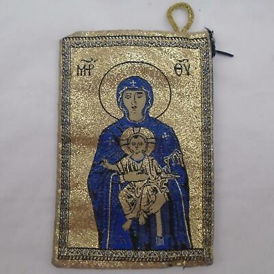 Zippered Purse Icon of the Mother of God Tapestry Bag Tenderness Icon
