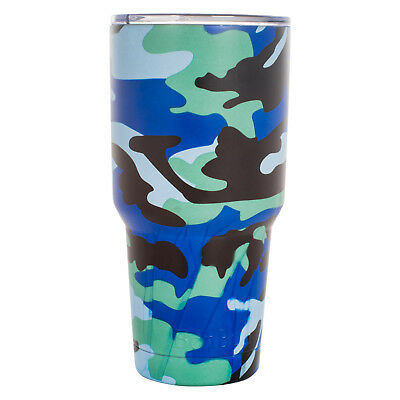 BonBon 30 Ounce Tumbler Stainless Steel Cup with Lid (Blue Camo)](Camo Cup)