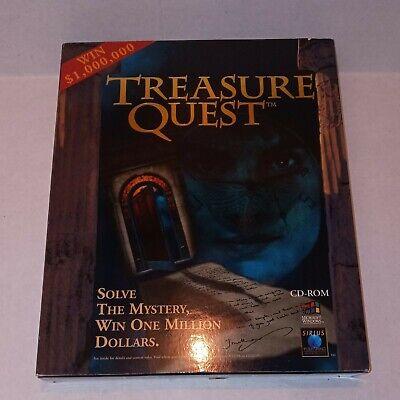 Treasure Quest (PC, 1996) Complete Big Box PC Game