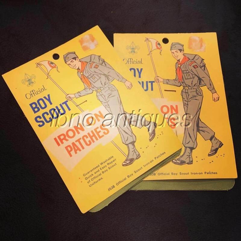 ORIGINAL OFFICIAL BOY SCOUTS OF AMERICA IRON ON UNIFORM REPAIR PATCHES 2 PACKS