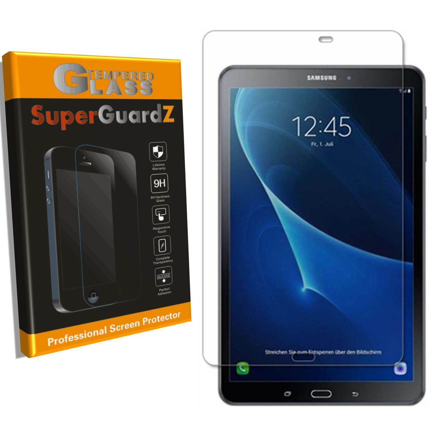 Samsung Galaxy Tab A 10.1 (2016) [2-PACK] Tempered Glass Screen Protector Case