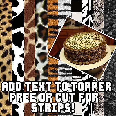 Edible Cake topper Cheetah leopard zebra tiger print sugar sheet paper pattern](Cheetah Print Cake)