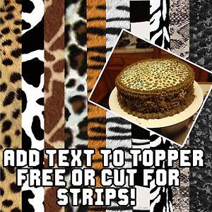 Leopard Print Sheet Cakes