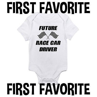 Race Car Baby Shower (Future Race Car Driver Baby Onesie Shirt Shower Gift Newborn Clothes)