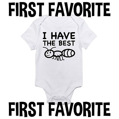 Best Ant Baby Onesie Shirt Aunt Auntie Shower Gift Newborn Infant Clothes
