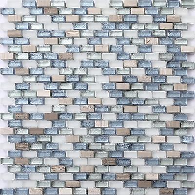 Item Description Glass And Stone Mosaic Wall Tiles Glass Splashback Splashbacks Mosaic Bathroom Wall Tiles Sheets Materials Glass And Stone Mix Colour