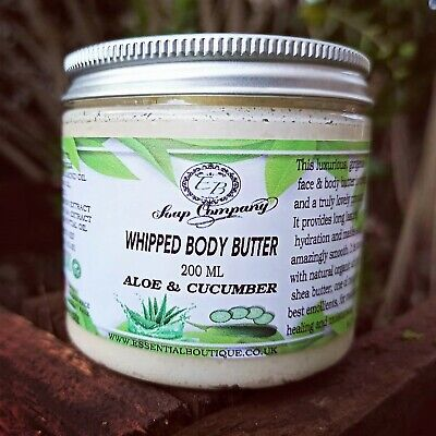 Aloe & Cucumber Whipped Body Butter Handmade Essential Boutique 200 ml