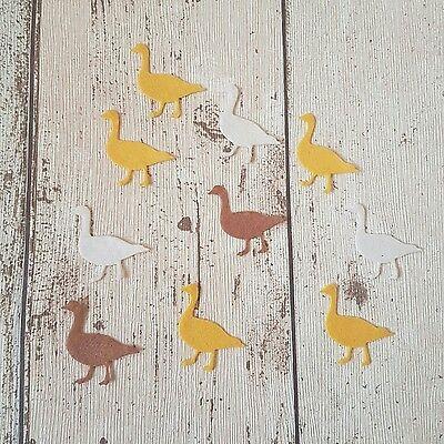 10 Felt Ducks , die cut for craft and embellishment, Farmyard Animals