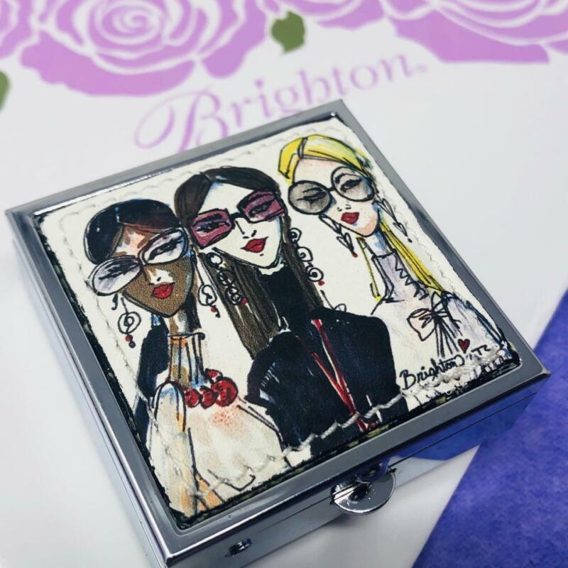 BRIGHTON uptown girls   PILL BOX   NWoutlet Tag