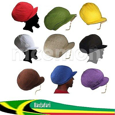 Rasta Rastafari Dreadlocks Reggae Dreads Hat Cap Jamaica Marley 100% Cotton M/L](Dreadlock Hat)