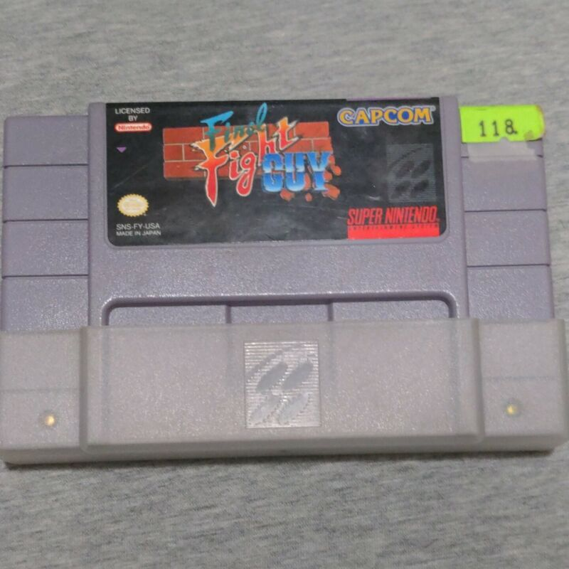 Final Fight Guy SNES vintage super nintendo / Tested / Cartridge Only RARE!